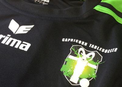 Textildruck für Capricorn Tablesoccer Spiel Trainingsbekleidung t-shirt