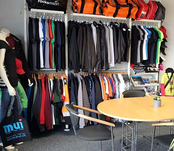 Showroom Textilien melowerbung.ch