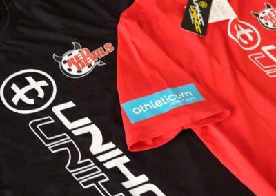 Textildruck t-shirt drucken für die red devils T-Shirt