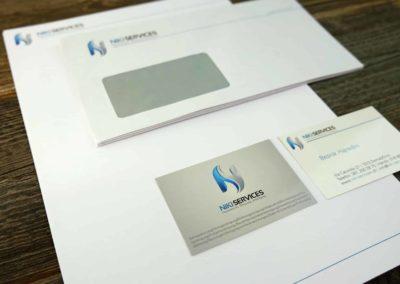 Logo & Briefschaften für Niki Services, Domat Ems