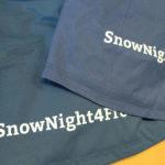Rückseite von Mammut Skijacken für Radio Südostschweiz mit vielfältigem Textildruck verredeln