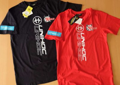 Red Devils Unihoc Baumwoll T-Shirts
