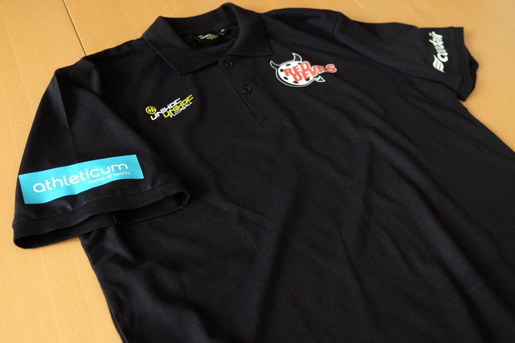 Polo Shirt bedrucken für die RedDevils March Höfe