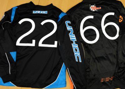 Druck auf Goalieshirts von Unihoc für die RedDevils, Pfäffikon