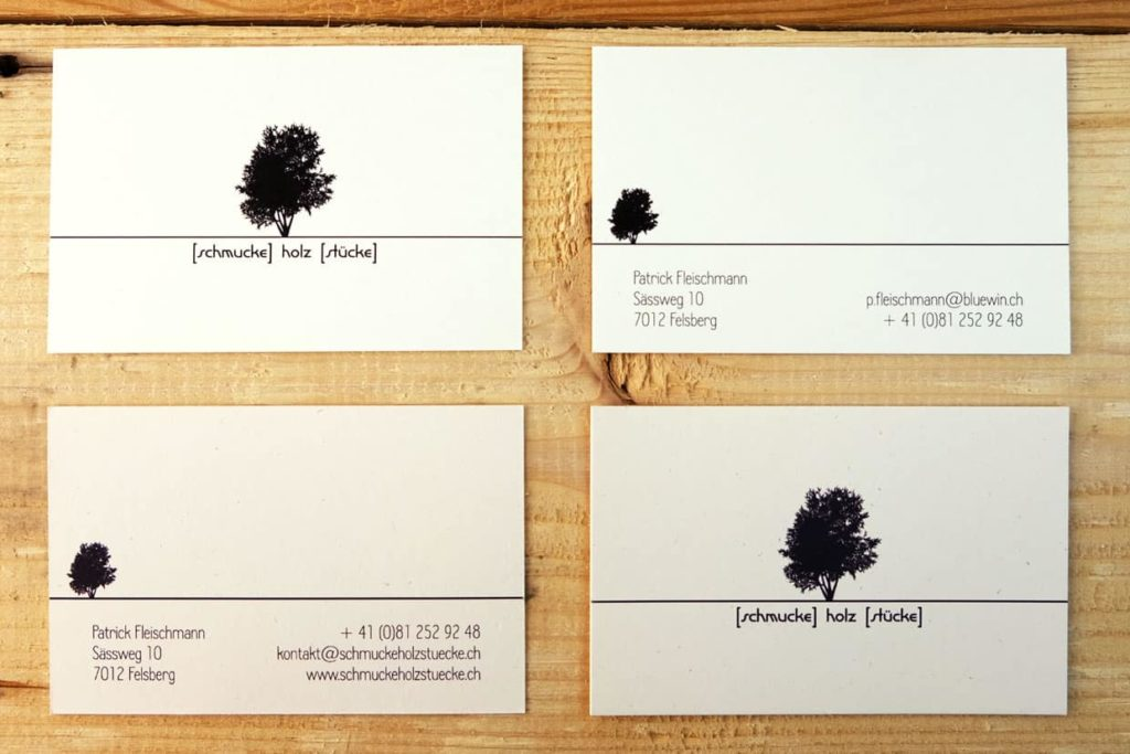 Logo und Visitenkarte für schmucke holz stuecke