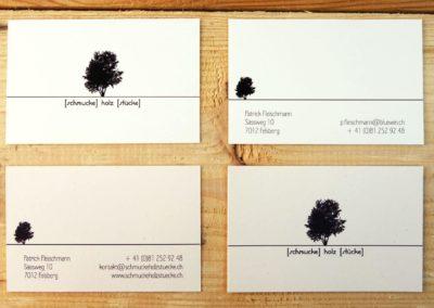 Logo und Visitenkarte für schmucke holz stuecke, Felsberg