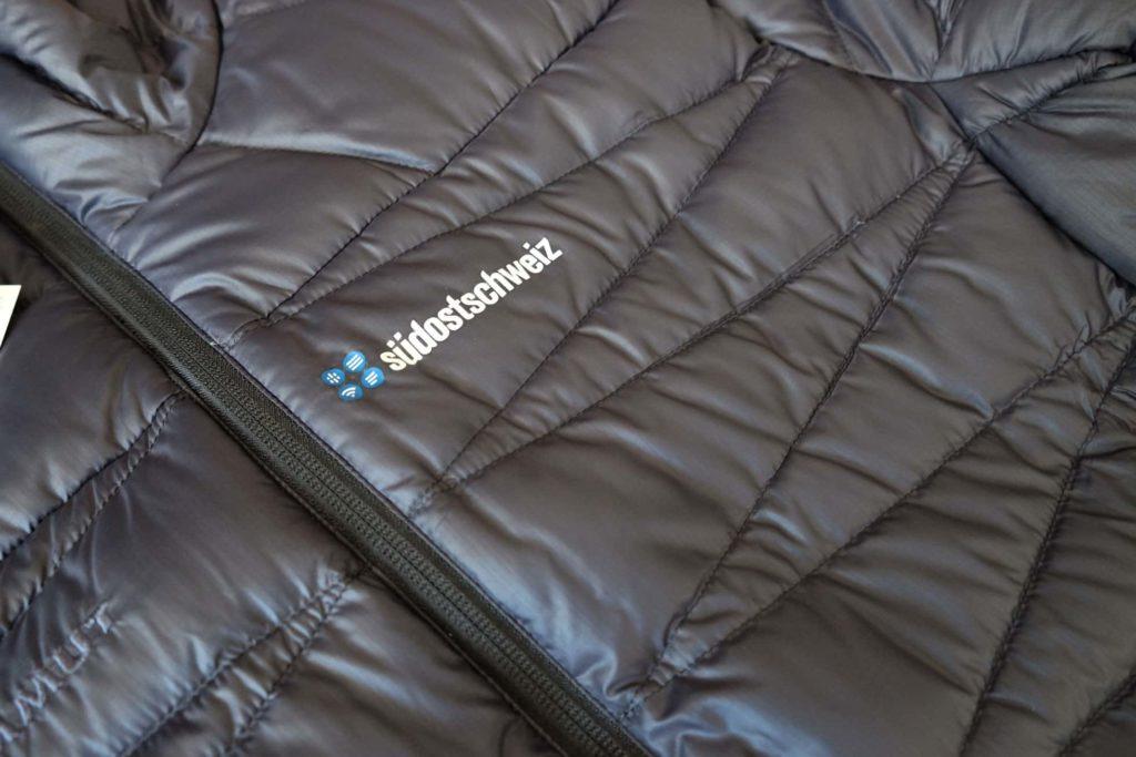 Textildruck auf Mammut Daunenjacke der Südostschweiz