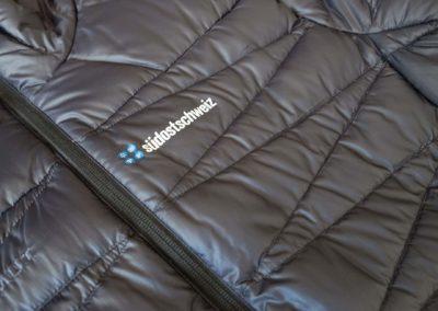 Textildruck auf Mammut Daunenjacke