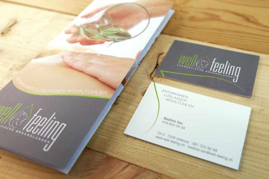 Logo Flyer und Visitenkarten für Well Fehling