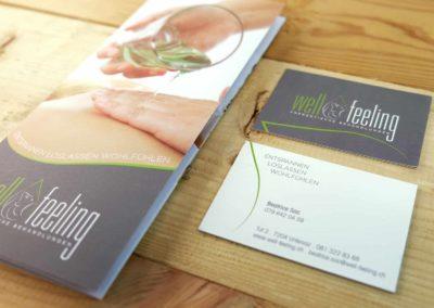 Logo Flyer und Visitenkarten für Well Feeling