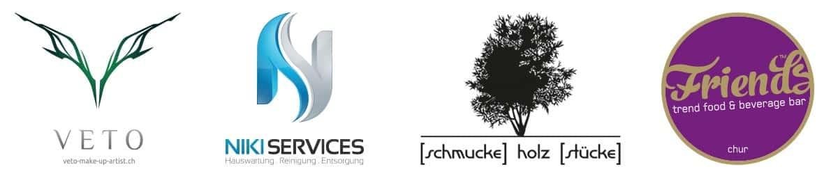 Logo Design Veto, Niki Services, schmucke Holz Stücke und Friends