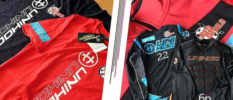 Textildruck für die Sportkleider der Red Devils