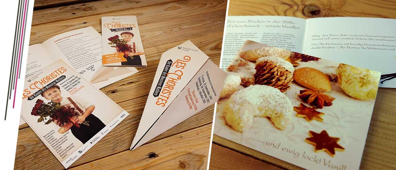 Programmhefte und Weihnachtskarten für die Singschule chur und Krefina Wien