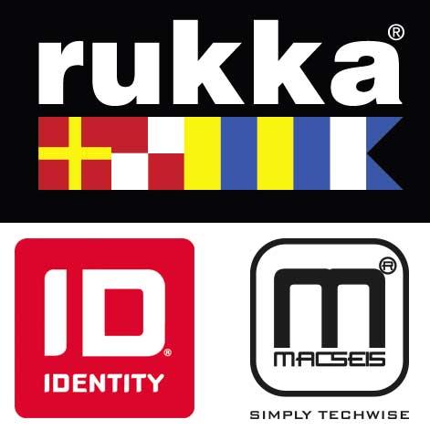 Rukka, ID und macseis Logos unsere Marken für den textildruck