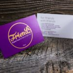 Logo Design sowie Rabattkarte mit Golddruck für das Friends in Chur