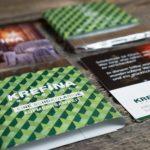 Weihnachtskarte sowie Schokoladenverpackung für die Krefina Immobilien aus Wien