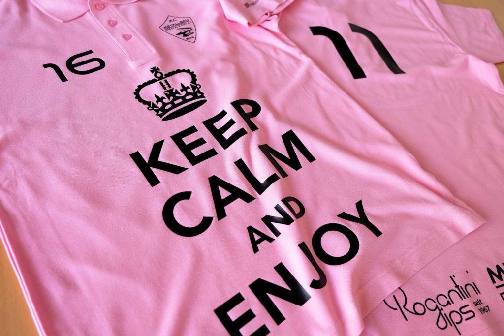 Textildruck von Poloshirts fürs Churerfest des FC Metallbau Perezelli
