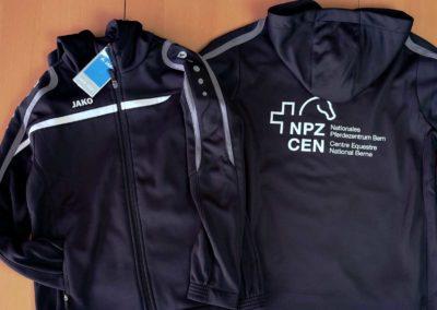 Trainingsjacken bedruckt für NPZ, Bern