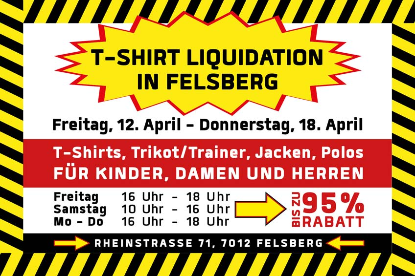12. – 18. April grosse T-Shirt Liquidation