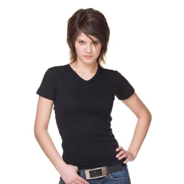 T-Shirt Lucy Damen schwarz